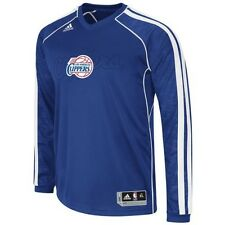 $80 Los Angeles Clippers Auth. Adidas On-Court Long Sleeve Shooter Jersey Shirt