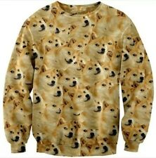 Funny Doge Wow Such Face Much Meme DOG Reddit Long Sleeve Cool Autumn Sweater