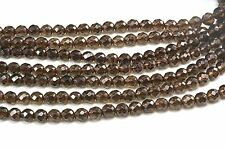 smoky quartz, faceted round, 4-12mm, jewelry bead, stone bead, wholesale bead