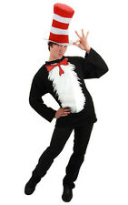 LICENSED ADULT MENS WOMENS DR SEUSS CAT IN THE HAT FANCY DRESS HALLOWEEN COSTUME