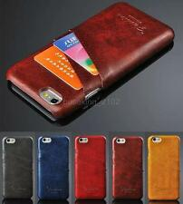 New Luxury PU Leather Credit Card Back Hard Case Cover holder for iPhone 6 4.7'