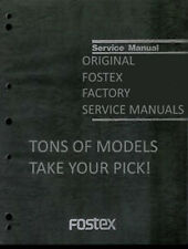 Factory Original Fostex Service Manuals * TONS TO CHOOSE FROM - PICK ONE!