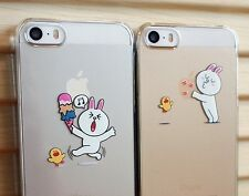 Naver Line App Characters Cony Brown Transparent Thin Hard Case for iPhone 5/5s