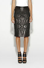 Nicole Miller Beyoncé's Embroidered Leather Skirt