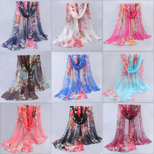 Women's Ladies Chiffon Soft Scarves Long Wraps Summer Shawl Beach Silk Scarf