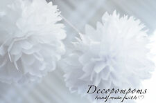SPARKLING and METALLIC color TISSUE PAPER POMPOMS!  - party decorations