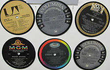 Coasters Set of 6 Made From  33 1/3 LP Records - Your Choice - Specific Artists