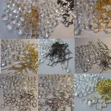 100 pcs.14 mm Crystal Octagon Chandelier Droplets with a Choice of Hanging Ties