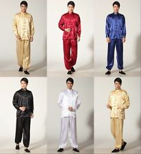 Men's Luxurious Satin Pyjamas Sleepwear Chinese Mandarin Kung fu Tai chi Suit