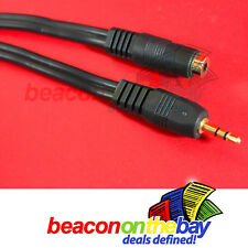 1.8m 3m 5m 10m 3.5mm Stereo Audio Extension Cable AUX Headphones Male to Female