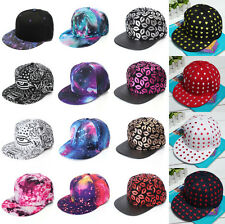 Fashion Baseball Flat Bill Hat Men Women Snapback Hip-Hop Adjustable Cap Unisex