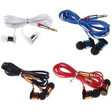 Stereo 3.5mm In Ear Headphone Earphone Headset Earbud for iPhone iPod Samsung PC