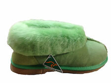 Australian Made genuine sheepskin Slipppers Green colour For Multi Size