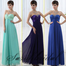 Cheap Long Bridesmaid Dresses Beaded Sweetheart Cross Bust Prom Party Gowns Girl