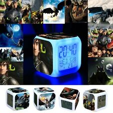 Many Kinds Boy Girl's How to Train Your Dragon LED Flash Alarm Clock Kids Gift