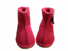 Australian Made Sheepskin Mini Ankle UGG Boots  Lady Red Colour