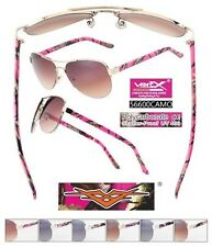Hot Pink, Pink, Purple Camo Aviator Sunglasses Camouflage Hunting Fishing 56600