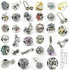 Threaded 925 Sterling Silver Hot Series European Breacelet Dangle Charm Bead