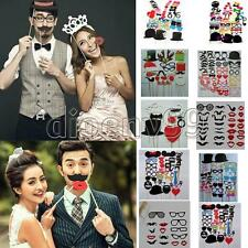 13 Style DIY Wedding Birthday Christmas Party Mask Photo Booth Prop On A Stick