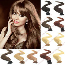100S Stick I Tip Fushion Keratin Glue 100%Remy Human Hair Extensions 50g 12color