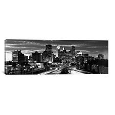 Panoramic 'Minneapolis Skyline Cityscape (Evening)' Photographic Print on Canvas