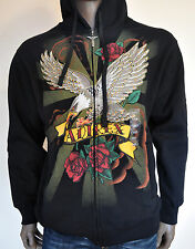 NWT AVIREX EAGLE HIP HOP STYLE MILITARY ZIP UP HOODIE S - LARGE