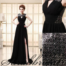 Long Split Side Evening Party Gowns Sequin Mother of the Bride Dresses Sexy Cut