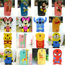 3D Cute Soft Animal Silicone Phone Case Cove For Samsung Galaxy S4 i9500 Cartoon