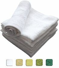 12 SOFT WASHCLOTHS/FACE TOWELS 12x12 inches 100% COTTON - WHOLESALE LOT