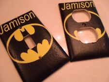 Batman  Light Switch Plate Cover Choose Size Cover Add a Name!