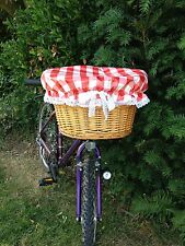 STYLISH BASKET COVERS! Ideal for bike wicker metal plastic picnic mobilty