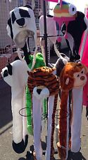 Animal Fluffy Winter fleece hats with scarf and mittens attached