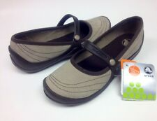 $55 Crocs Wrapped Mary Jane Clog Mushroom / Espresso Size Women 6 7 SALE