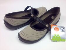 Crocs Wrapped Mary Jane Clog Mushroom / Espresso Size Women 6 7 $55 SALE