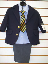 Infant boys Nautica Navy and Gray 4 piece suit sizes 12,18 & 24 month