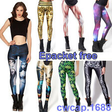 HOt Plus Size XXL-S Galaxy Print Women leggings fitness Skull Muscle New Fashion
