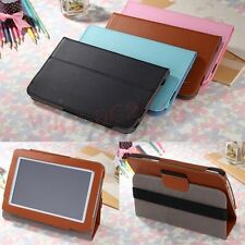 """Universal Leather Case Stand Cover For Android Tablet 7"""" 7.85"""" 8"""" 9"""" 9.7"""" 10"""""""