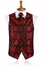 Red Victorian Jacquard Waistcoat