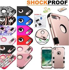 Silicone Gel Rubber TUFF HYBRID Armor Hard Soft Case Cover for Apple iPhone 5 5s
