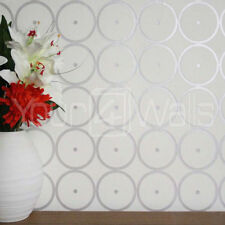 'Sphere' Graphic Modern Wallpaper in Off White & Light Grey