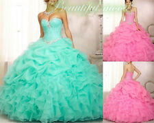 2015 New Quinceanera Formal Prom Dresses Ball Gowns party Evening stock Size