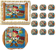Jake and the Neverland Pirates Jake Treasure Map Edible Cake Topper-All Sizes!