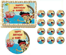 Jake and the Neverland Pirates Jake Izzy Boat Edible Cake Topper Imag-All Sizes!