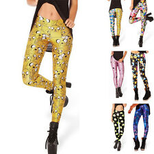 Adventure Time Montage Black Leggings new women Digital print Galaxy Pants