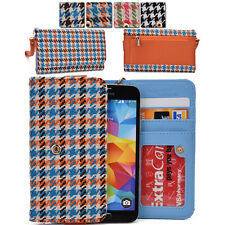 Kroo Woman-s Houndstooth Patterned Wallet Clutch Cover ML|H fits Mobile Phone