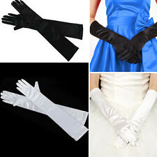 Women Evening Party Opera Bridal Wedding Satin Arm Hand Sleeve Long Gloves