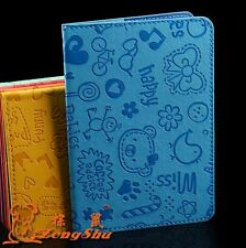 Cartoon Passport Holder Protector Cover PU Leather Cover Wallet