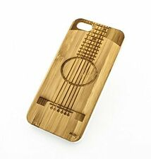BAMBOO WOOD Case Cover for APPLE IPHONE 5/5S - GUITAR musician notes band slash