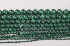 Wholesale A strand 15.5'' Malachite Gemstone Round Loose Spacer Beads 9Sizes