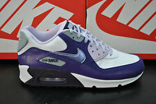 NIKE AIR MAX 90 WOMENS LADIES SPORTS TRAINERS WHITE PURPLE VIOLET 345017 118